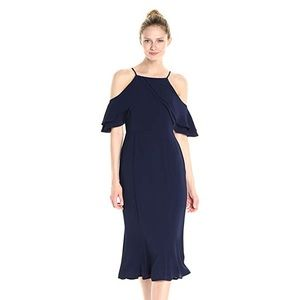 NWT London times cold shoulder Crepe Sheath dress